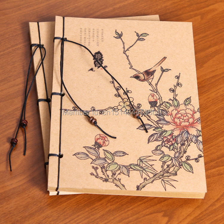 New Arrival 2015 Chinese Vintage Stationery 70 Sheets Kraft Cover