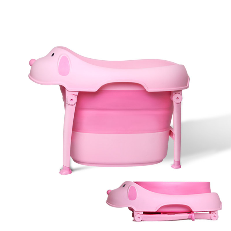 Fashion Large Size Foldable Baby Bath Tub With a Seat Kids C