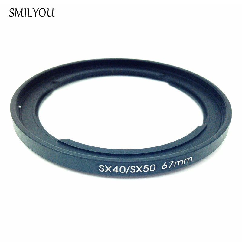 SMILYOU New Camera <font><b>Lens</b></font> Adapter 67mm Filter Adapter Ring for <font><b>Canon</b></font> PowerShot SX30 <font><b>SX40</b></font> SX50 SX520 <font><b>HS</b></font> replace FA-DC67A image