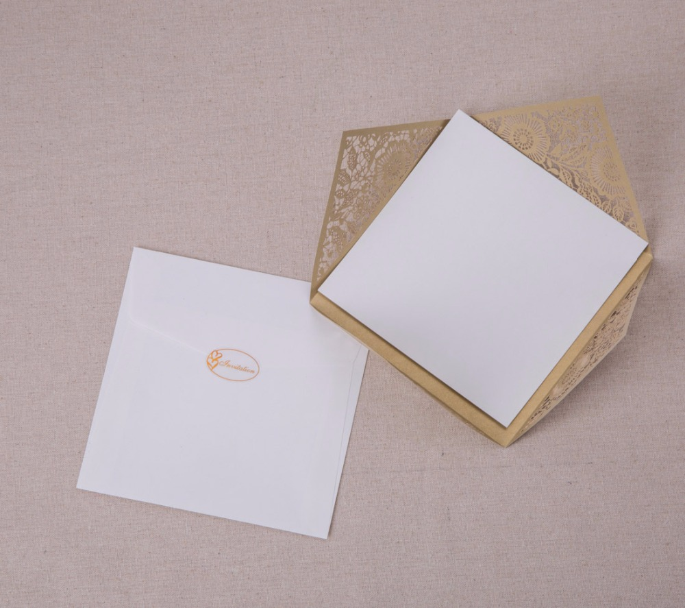 Aliexpress Buy Laser Cut Wedding Invitations Kits Ivory – Flower Party Invitations