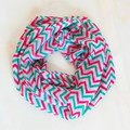 Hot Sale Christmas Scarf for Kids Women Fashion Viscose Chevron Wave Print Zigzag Scarf Circle Loop Infinity Scarves Wholesale