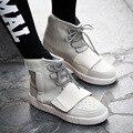 Novos Homens Partes Superiores Altas Sapatos Casuais Moda Confortável Respirável Rendas Até Apartamentos de Algodão Inverno Quente Sapatos Da Moda Mens XY19