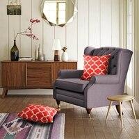 Printing Velvet Home/Hotel Square Pillow Cover Stripe Flower Pillow Case 45*45cm #327