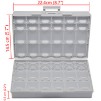 BOXALL48 Lids Empty Enclosure SMD SMT Organizer Surface Mount