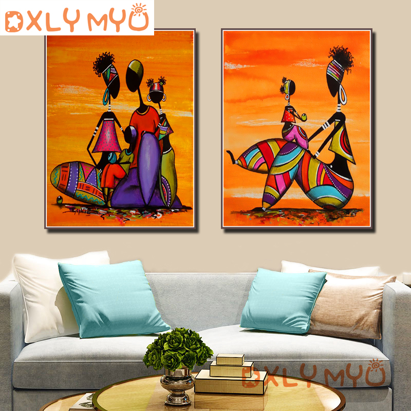 5D Full Diamond Painting African Life Pictures Diy Diamond Embroidery Mosaic Picture Rhinestone Handmade Kits Home Decor in Diamond Painting Cross Stitch from Home Garden