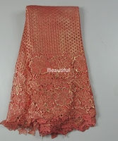 10 colors available African cord lace fabric net lace classic bronzed cord guipure lace fabric for sewing dress 5yards/lot