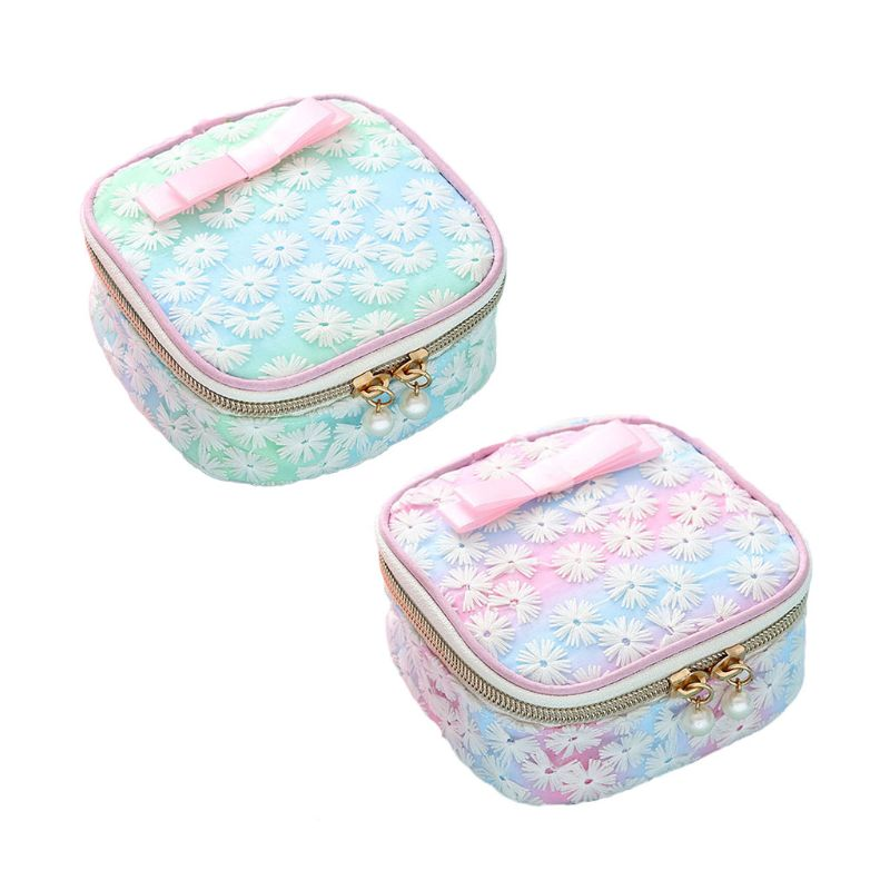 Organizer-Holder Convenience-Bags Girl Cute Women Napkin-Towel Embroidery Sanitary-Pad