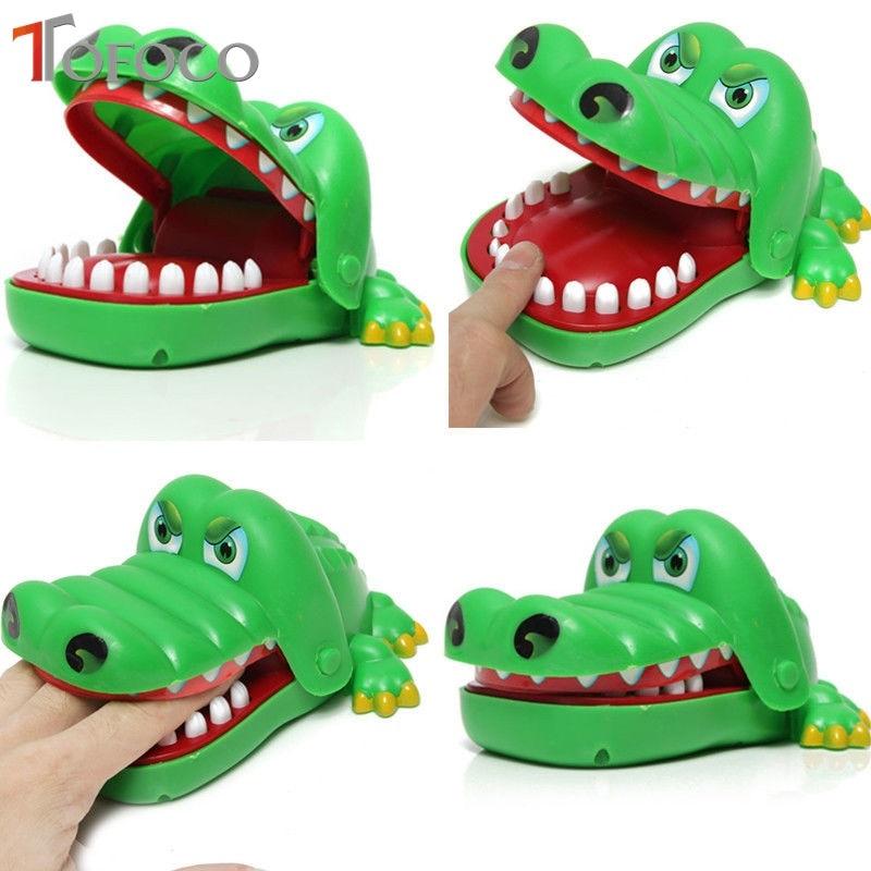 TOFOCO Chaude Bouche Dent Alligator Enfants Jouets Mordre Main Crocodile Dents Jouet Roulette Jeu Famille Astuces Pratique Blagues Fun Cadeaux