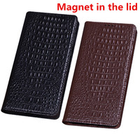 ZD07 Genuine leather magnet flip case for Sony Xperia Z3 Compact case for Sony Xperia Z3 Compact phone bag free shipping
