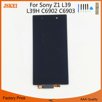 For Sony Xperia Z1 L39 L39H C6902 C6903 LCD Display Digitizer Sensor Glass Panel Assembly 5.0 Inch 10pcs/lot