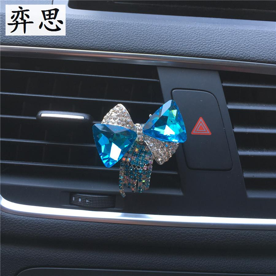 Buy Exquisite metallic bows and tassels Car styling ornament Perfume clip Ladies car air freshener Car Rhinestone bow Decoration for only 2.98 USD