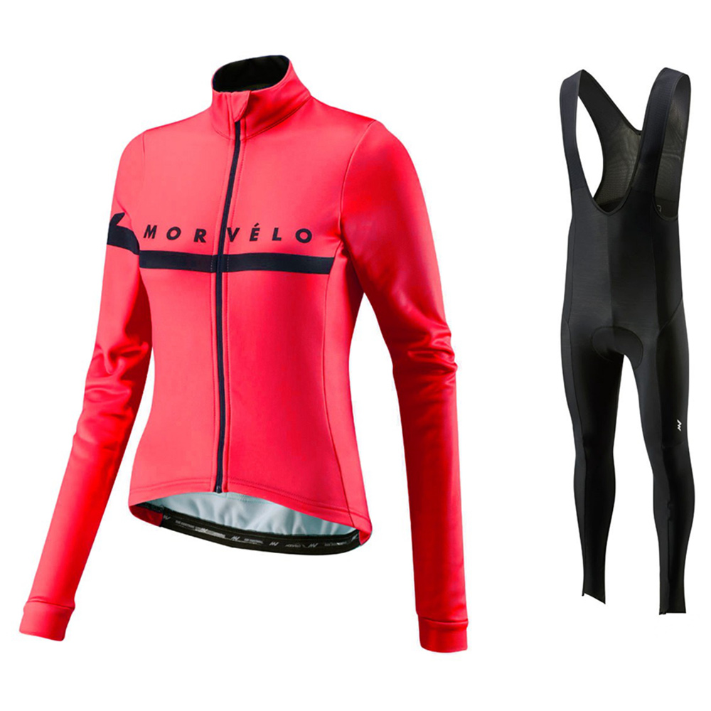 Morvelo 2018 Women Autumn Long Sleeve Cycling Jerseys bib pants Set Breathable Thin Ropa Ciclismo Riding Clothes Cycle Suit Wear 3d silicone kuota 2011 bib short sleeve cycling jerseys wear clothes bicycle bike riding jerseys bib pants