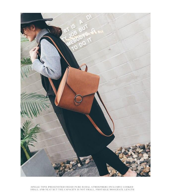 mujer bolso cuero retro mochila 2018 moda femenino pu mochila xpIZY565q