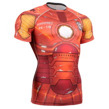 Top Sales Mens Compression Shirt Short Sleeves 3D Full Printing Top Tee MMA Weight Loss T-shirts