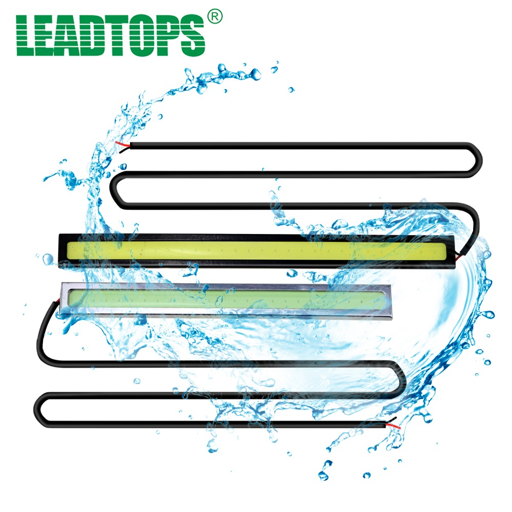LEADTOPS Car-styling 14cm Waterproof Ultra-thin COB Chip LED Daytime Running Light DIY DRL LED Light Lamp Source Car Styling BE 1pair ultra thin 17cm cob led car daytime running lights led drl waterproof daytime lights car styling parking free shipping