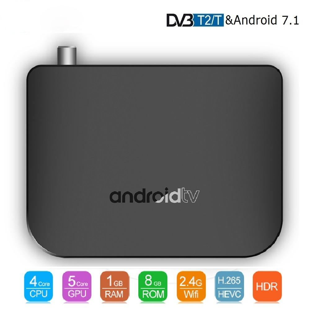 M8S PLUS DVB-T2/T Android 7.1 TV Box 1GB 8GB 4K with 12 month Earth World Europe America 7000 Live 8000 VOD HD IPTV Set Top Box