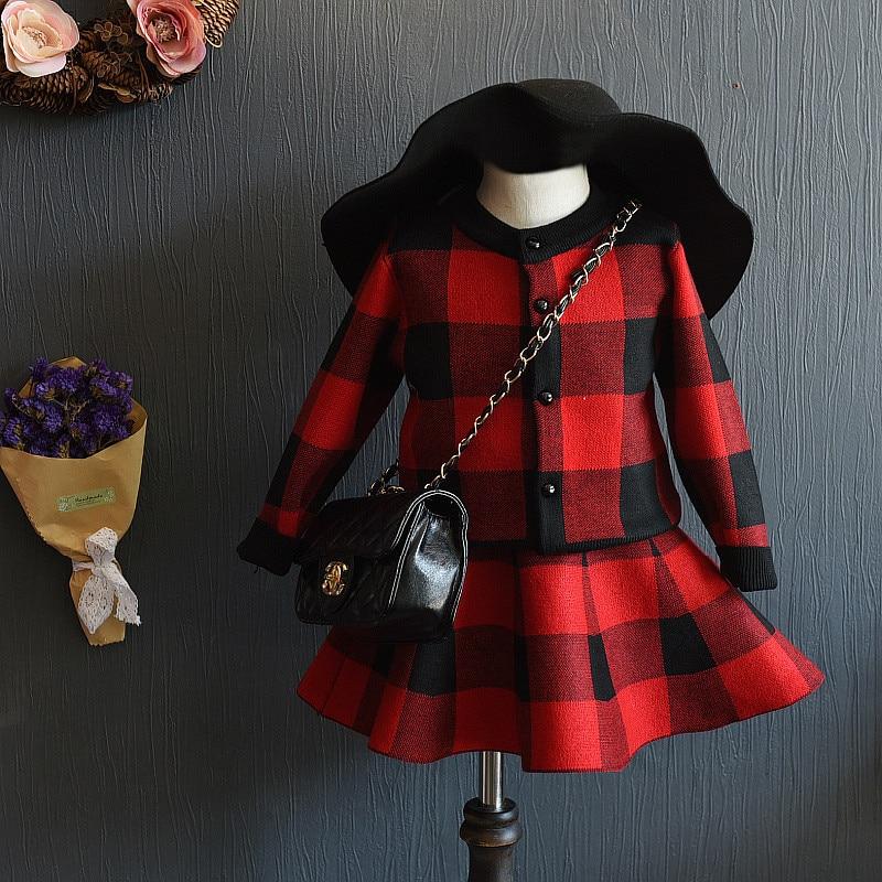 Ragazze Vestiti Set Outfit Maglia maglione Nero Giacca A