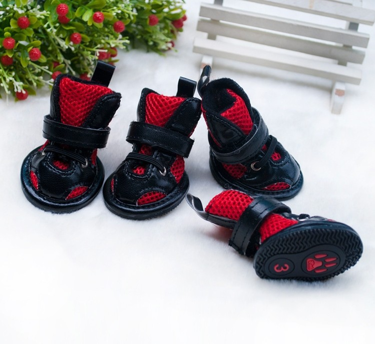 Beauty breathable PU leather dog shoes chien summer boots perros tennis  shoes pet pets shoe products goods for animals CA916-in Dog Shoes from Home    Garden ... c963f9c840e0