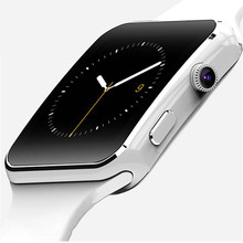 Smart Watch Clock With Sim Card Slot Push Message Bluetooth Connectivity Android Phone Better Than DZ09 Smartwatch Men Watches(China)