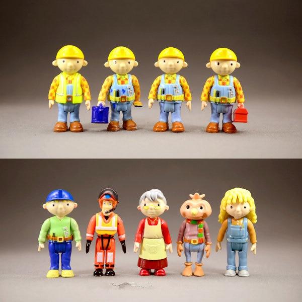 Action Figures Dolls Builder Education-Model Fireman Sam Anime Cartoon Kids Bob PVC