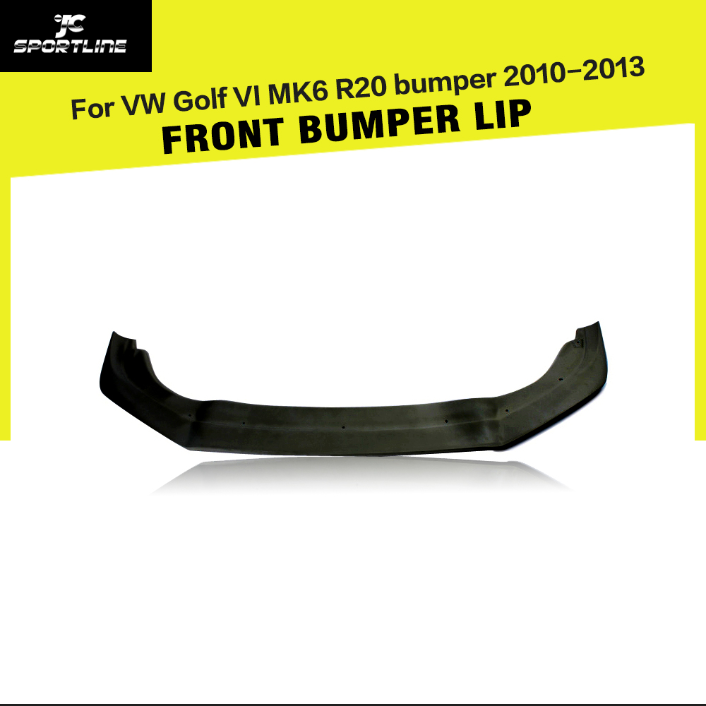 FRP Unpainted Front Bumper Lip Spoiler For Volkswagen VW Golf 6 VI MK6 R20 bumper 2010-2013 2010 2013 mk6 abs auto car mesh bumper grille front grills for vw golf vi mk6 standard bumper