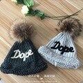 Теплую шапку наборы супер реальную лиса волосяная луковица вязаная шапка шапка
