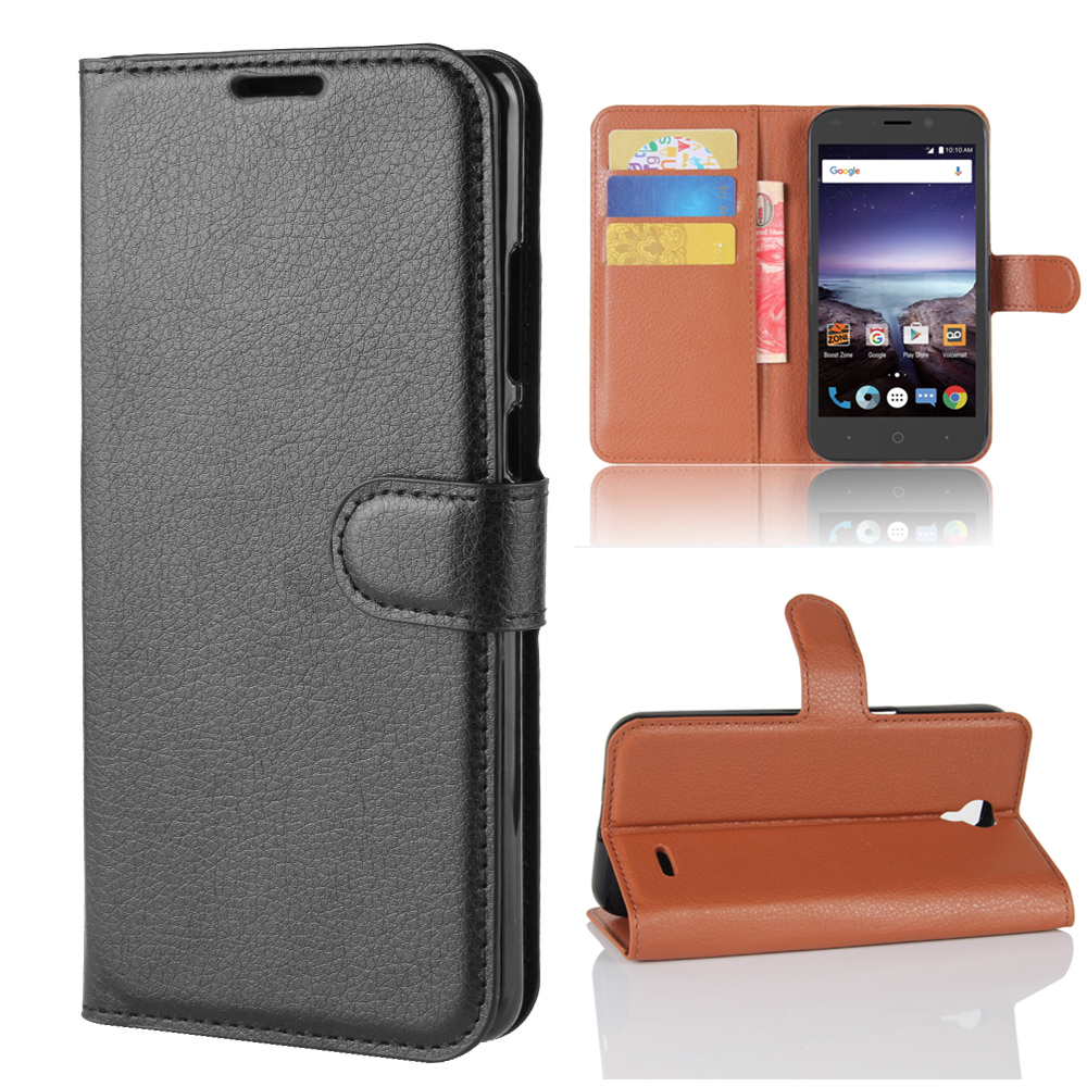 Wallet Cover Card Holder Phone Cases for ZTE N9136 / Prestige 2 Pu Leather Case Protective Shell