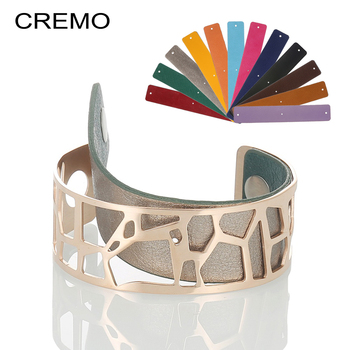 Cremo Giraffe Bracelets & Bangles For Women Stainless Steel Jonc Bijoux Femme Cuff Bangle