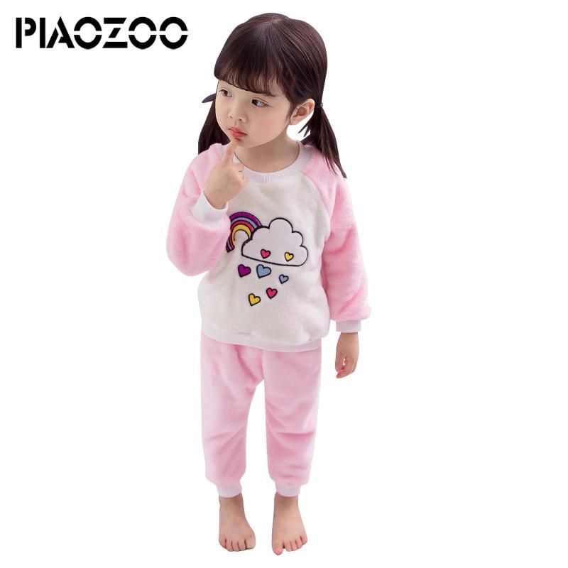 Girls Pajamas Children Clothes Set Little Kids Pjs Sleepwear Loungewear Flannel