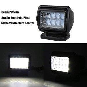 Image 3 - Foco Led de búsqueda marina de 50W reflector inalámbrico, 12/24V, para camiones y barcos, todoterreno, carcasa negra/blanca, rotación de 360, 1 Uds.