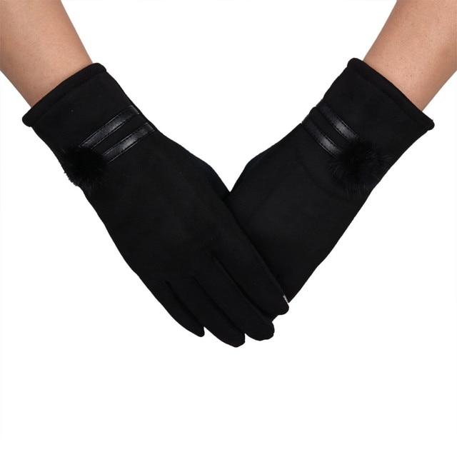 Rabbit Fur Ball Gloves...