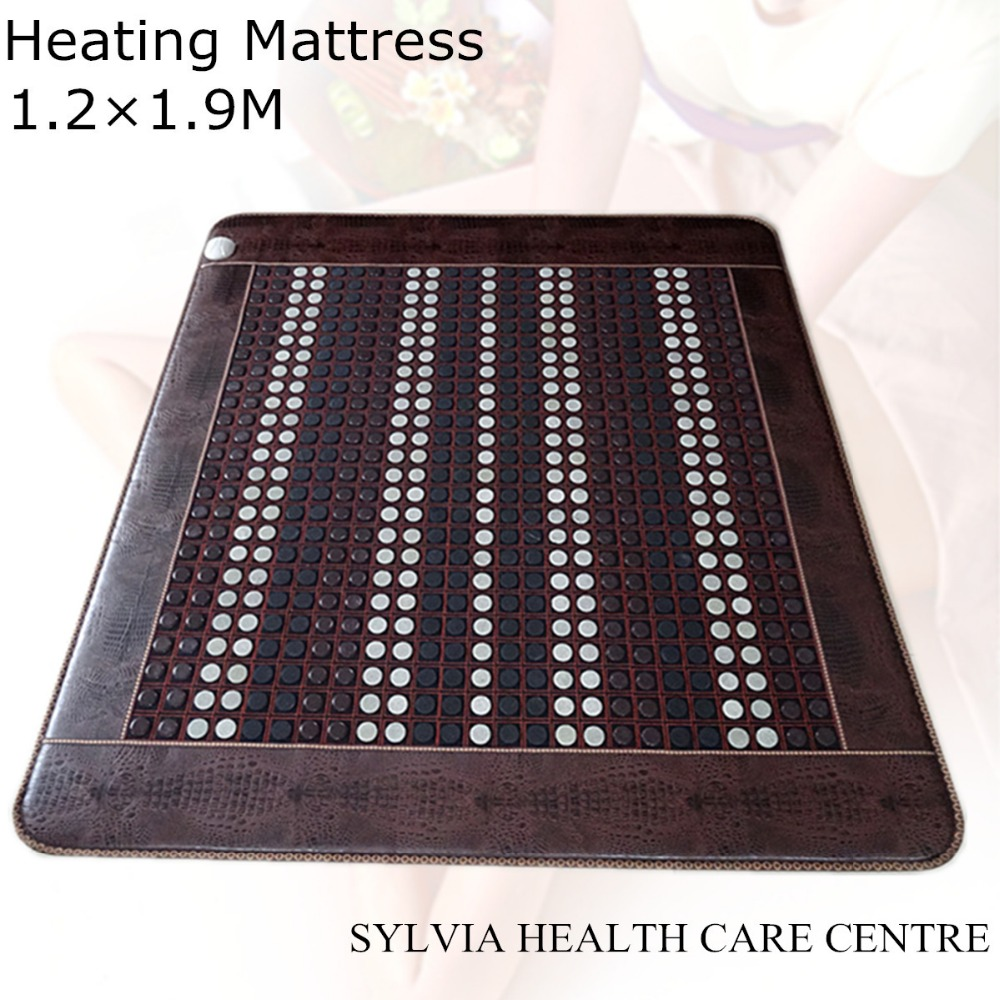 Free Shipping Jade Physical Therapy Cushion Germanium Tourmaline Health Heated Electric Heat Mats bed warm mattress 1.2X1.9M free shipping for natural jade germanium stone tourmaline electric heated sofa mattress physical therapy mats size 150x50cm