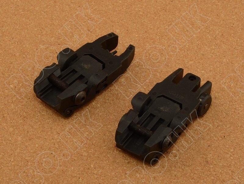 Caza tiro táctico Doble Delantero y Trasero Sights III BK RBO M4318