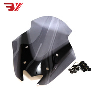 BYSPRINT Motorcycle Fit For YAMAHA NMAX 155 NMAX155 PC Plastic wind deflector Windshield WindScreen Visor Viser Double Bubble
