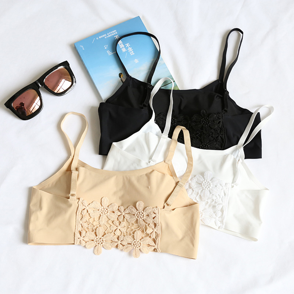 Women Wireless Meryl Traceless Tops With Bra Sexy Thin Strapless Bandeau Tubes  Lingerie Tops