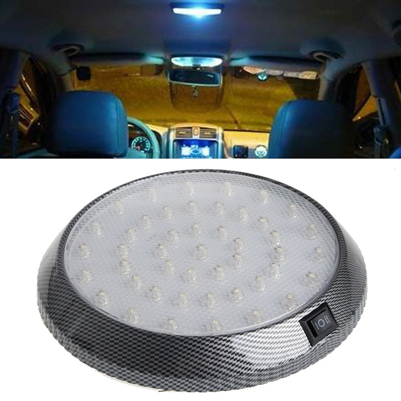 car vehicle 12v 46 led interior indoor roof ceiling dome light white lamp auto reading lights. Black Bedroom Furniture Sets. Home Design Ideas