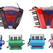 17 клавиш, 8 басов, начинающих детей, инструмент аккордеон, обучающий детский аккордеон(6 цветов на выбор
