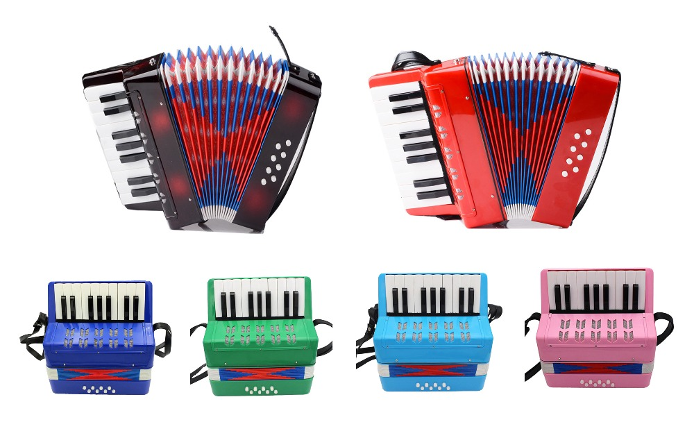 Free shipping!17keys 8Bass beginner children's enlightenment accordion instrument Educational kids' Accordion(6 colors optional) 0 3 years primer beginner books my little world count 123 first abc colors tome of enlightenment