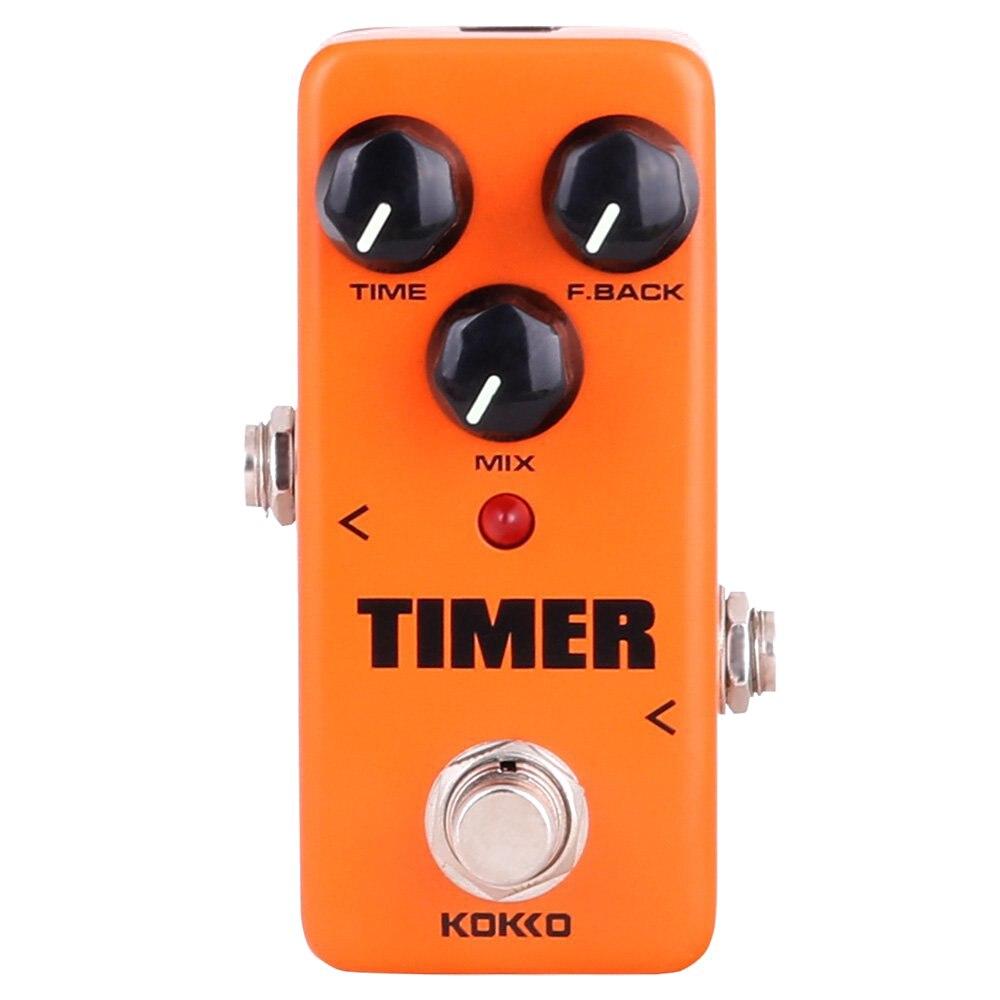 XFDZ KOKKO guitare Mini effets pédale minuterie-numérique retard effet son processeur Portable accessoire pour guitare et basse, Exclu