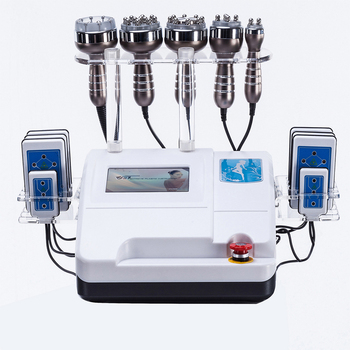 6 IN 1 Ultrasonic Liposuction Cavitation RF Machine 8 Pads 650NM Lipo Laser Body Slimming Machine Vacuum RF Skin Rejuvenation