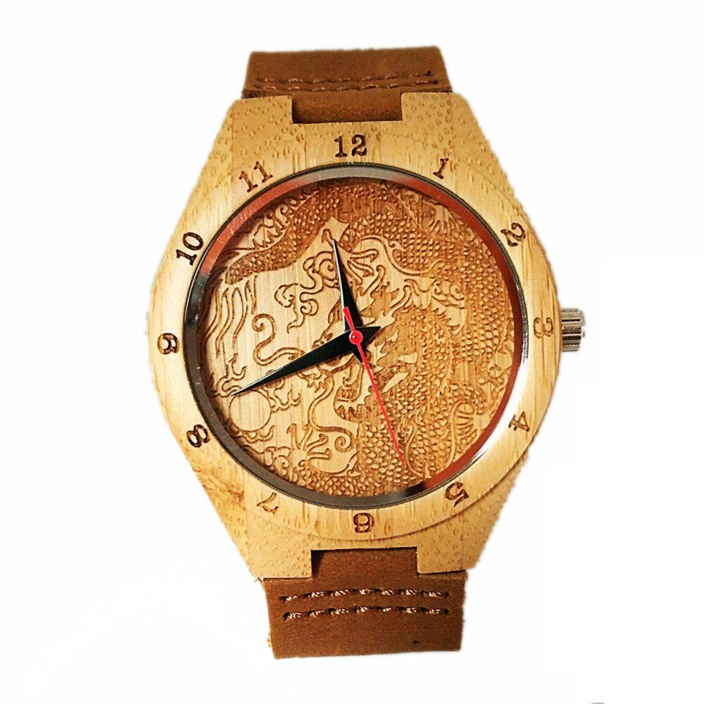 Dames-horloges Bamboo Wood quartz dameshorloges Analoge casual mode - Dameshorloges - Foto 2