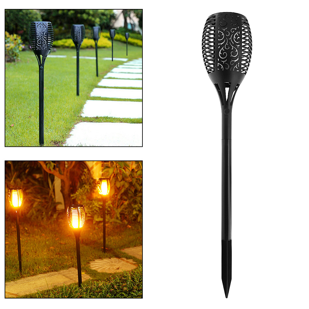 Waterproof LED Solar Light Torch Shape 96 LEDs Landscape Lamp Energy Saving for Outdoor/Park/Garden Grounding Decoration