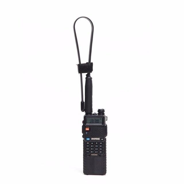 Abbree CS Walkie Talkie Tactical Antenna SMA-Female Dual Band VHF UHF 144/430Mhz Foldable For Baofeng UV-5R UV-82 UV-S9 UV-9R 5