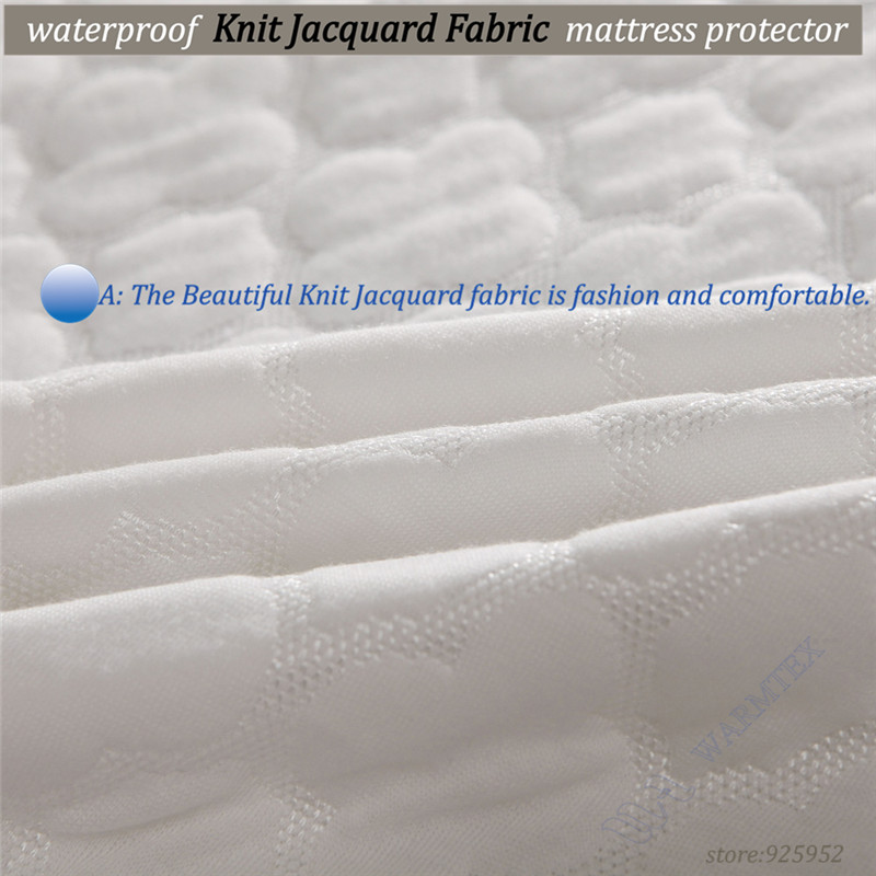 best selling king size 180x200cm soft beautiful Jacquard cloth 100% waterproof mattress cover high quality customized A