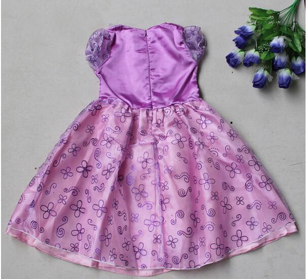DB23655 Children Girl princess sofia dress-21