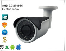2.8 12mm Electric zoom 2440+Sony IMX323 AHD Bullet Camera 2.0MP 1080 IP66 Waterproof Outdoor Infrared IRC BNC DC 12V Security