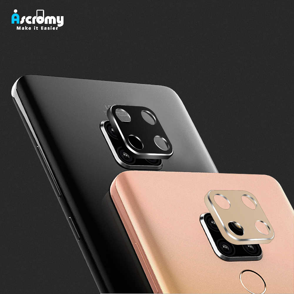 Ascromy For Huawei Mate 20 X 20 Pro Case Metal Bumper Lens Case For Huawei Mate 20 Mate 20pro Camera Protection Ring Accessories