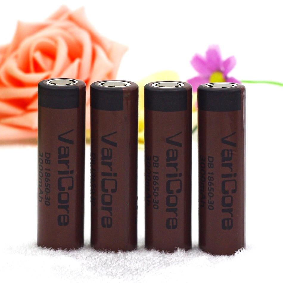 4PCS 100% New Original HG2 18650 3000mAh battery 18650HG2 3.6V discharge 20A dedicated For LG E-cigarette Power battery