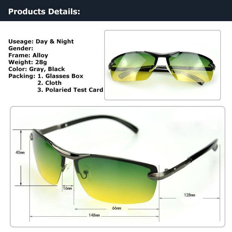 bcbc6cec94 ... AORON Day   Night Vison Multifunction Men s Polarized Sunglasses Reduce  Glare Driving Sun Glass Goggles Eyewear ...