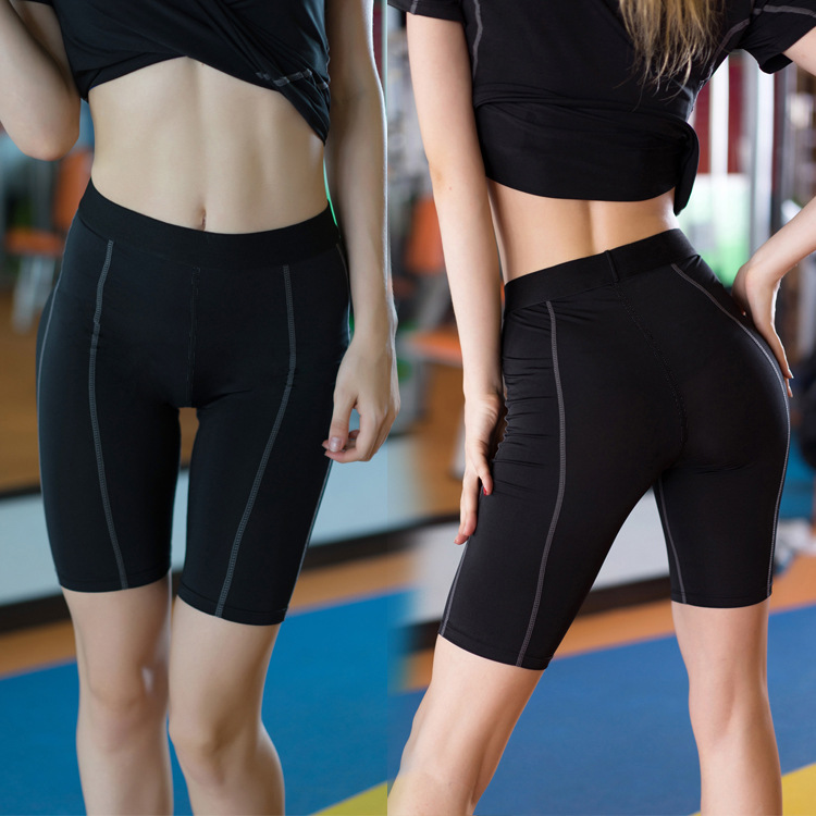 Quick Dry Gym Active Yoga Tights Women High Waist Elastic